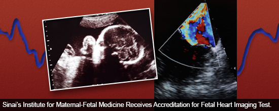 Sinai's Institute for Maternal-Fetal Medicine Receives Accreditation for Fetal Heart Imaging Test.